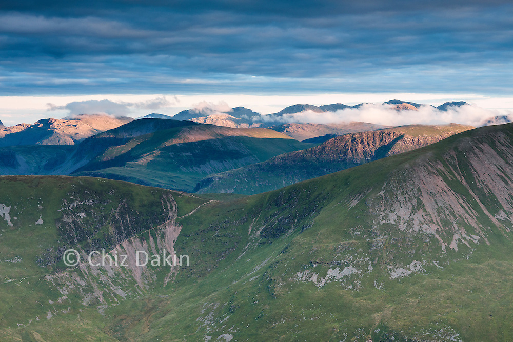 Sunset over Buttermere from Grisedale Pike