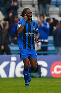 Gillingham FC defender Gabriel Zakuani (6) gestures during the EFL Sky Bet League 1 match between Gillingham and Peterborough United at the MEMS Priestfield Stadium, Gillingham, England on 22 September 2018. Picture by Martin Cole