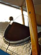 "Wooden wing brace on the Curtiss JN-4D ""Jenny""."