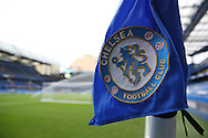 a general view of the Chelsea corner flag. Premier league match, Chelsea v Stoke city at Stamford Bridge in London on Saturday 31st December 2016.<br /> pic by John Patrick Fletcher, Andrew Orchard sports photography.