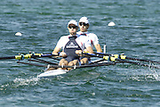 Munich, GERMANY, GBR LM2X . Bow Zac PURCHASE and Mark HUNTER. At the start, during the FISA World Cup at the Munich Olympic Rowing Course, Thur's.  08.05.2008  [Mandatory Credit Peter Spurrier/ Intersport Images] Rowing Course, Olympic Regatta Rowing Course, Munich, GERMANY