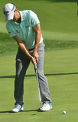 August 10, 2018 - St. Louis, Missouri, U.S. - ST. LOUIS, MO - AUGUST 10: Kevin Kisner putts on the 315 green during the second round of the PGA Championship on August 10, 2018, at Bellerive Country Club, St. Louis, MO.  (Photo by Keith Gillett/Icon Sportswire) (Credit Image: © Keith Gillett/Icon SMI via ZUMA Press)
