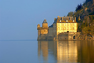 Mont Saint-Michel wall at high tide - Gabriel Tower & Hayloft  - Brittany - France