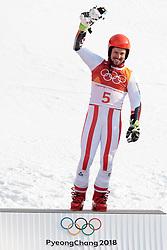 18.02.2018, Yongpyong Alpine Centre, Pyeongchang, KOR, PyeongChang 2018, Ski Alpin, Herren, Riesenslalom, Siegerpräsentation, im Bild Marcel Hirscher (AUT, 1. Platz) // gold medalist and Olympic champion Marcel Hirscher of Austria during the winner presentation of the men's Alpine Giant Slalom Race of the Pyeongchang 2018 Winter Olympic Games at the Yongpyong Alpine Centre in Pyeongchang, South Korea on 2018/02/18. EXPA Pictures © 2018, PhotoCredit: EXPA/ Johann Groder