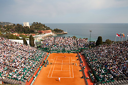 16.04.2010, Country Club, Monte Carlo, MCO, ATP, Monte Carlo Masters, im Bild A general view of the centre court taken with a tilt shift lens to give the impression of miniturisation effect at the ATP Monte Carlo Masters tennis tournament, EXPA Pictures © 2010, PhotoCredit: EXPA/ M. Gunn / SPORTIDA PHOTO AGENCY