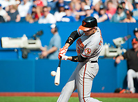 September 6 2015: Baltimore Orioles Infield Ryan Flaherty (3) [7593] batting against Toronto Blue Jays in the seventh inning at Rogers Centre in Toronto, ON Canada.