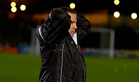 Photo: Alan Crowhurst.<br />Brighton & Hove Albion v Swansea City. Coca Cola League 1. 05/12/2006. Swansea coach Kenny Jackett holds his head after they miss a late chance.