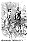 """Hostess (to guest who has arrived in dinner-jacket). """"Of course I think it looks perfectly sweet, dear. But what does your husband say?"""" Guest. """"Oh, that's all right — we've each got our own."""""""