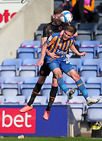 Hull City's Callum Elder battles with  Shrewsbury Town's Joshua Daniels<br /> <br /> Photographer Mick Walker/CameraSport<br /> <br /> The EFL League 1 - Shrewsbury Town v Hull City  - Saturday  20th March  2021 -  Montgomery Waters Meadow Stadium-Shrewsbury<br /> <br /> World Copyright © 2020 CameraSport. All rights reserved. 43 Linden Ave. Countesthorpe. Leicester. England. LE8 5PG - Tel: +44 (0) 116 277 4147 - admin@camerasport.com - www.camerasport.com