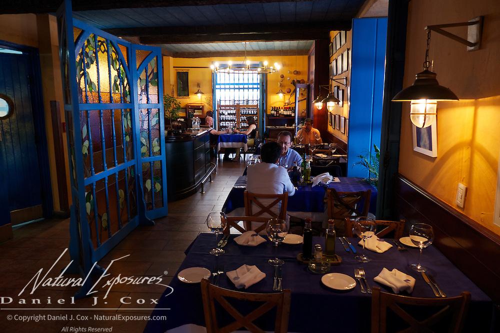A small restaurant in Havana, Cuba