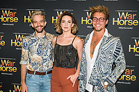 Evan Lever,Steph Jones and<br /> Luke Javis at the opening night of War Horse, at the Lyric Theatre, Star City on February 18, 2020 in Sydney, Australia