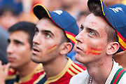 Waiting the first goal of Spain