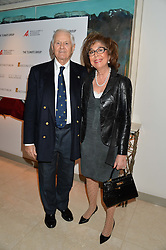 EDWARD FORT and SUSAN FRIEDLANDER at the Fortune Forum Club dinner in the presence of HSH Prince Albert II of Monaco held at The Dorchester, Park Lane, London on 15th January 2014.