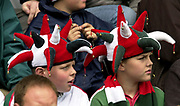 © Peter Spurrier / Sportsbeat images<br />email images@sportsbeat.co.uk - Tel +44 208 876 8611<br />Photo Peter Spurrier 02/05/2003<br />2003 - Zurich Premiership Rugby - Leicester Tigers v London Irish<br />Young exiles fans