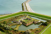 Nederland, Zeeland, Walcheren, 19-10-2014;<br /> <br /> Nederland, Zeeland, Vlissingen, 19-10-2014; Ritthem, Fort Rammekens, zeefort midden in gelijknamig natuurgebied <br /> Sea fort near Flushing.<br /> luchtfoto (toeslag op standard tarieven);<br /> aerial photo (additional fee required);<br /> copyright foto/photo Siebe Swart