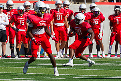 NORMAL, IL - August 14: Rashad Lampkin during a college football pre-season scrimmage of the  ISU (Illinois State University) Redbirds August 14 2021 at Hancock Stadium in Normal, IL. (Photo by Alan Look)