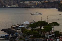 Sorrento, Italy, September 15 2017. A superyacht lies at anchor in Sorrento, Italy. © Paul Davey