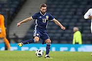 Scotland defender Graeme Shinnie (13) (Aberdeen)  during the Friendly international match between Scotland and Portugal at Hampden Park, Glasgow, United Kingdom on 14 October 2018.