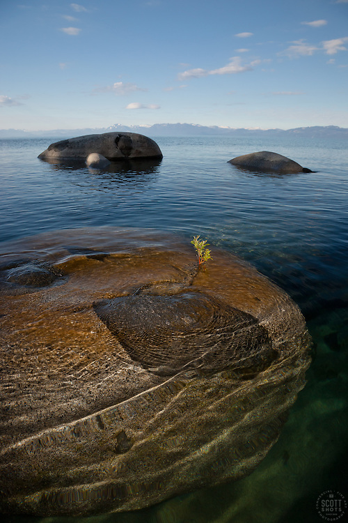 """""""Boulders on Lake Tahoe 27"""" - These boulders were photographed in the early morning near Speedboat Beach, Lake Tahoe."""
