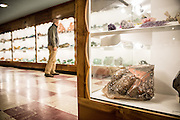 the Rudy Tschernich Northwest Mineral Gallery in the basement of the Rice Museum of  Rocks and Minerals.