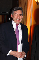 The RT.HON.GORDON BROWN MP at a reception for the winners of the 2006 Veuve Clicquot Award - Business Woman of the Year held at Claridge's Hotel, brook Street, London on 27th April 2006.  This years winner was Vivienne Cox, BP CEO for Gas, Power, Renewables and Integrated Supply & Trading.  The awards were presented by the Rt.Hon.Gordon Brown MP - The Chancellor of the Exchequer.<br />