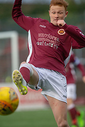 Stenhousemuir's Russell Dingwall. Stenhousemuir 1 v 0 Airdrie, Scottish Football League Division One played 26/1/2019 at Ochilview Park.