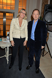 KATE PERCIVAL co-founder and CEO of Grace and GEORDIE GREIG at a talk by Geordie Greig about his book 'Breakfast With Lucian' held at Grace, 11c West Halkin Street, London on 22nd January 2014.