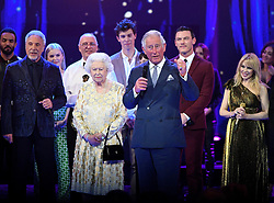 Members of The Royal Family attend The Queen's Birthday Party at the Royal Albert Hall, London, UK, on the 21st April 2018. Picture by Andrew Parsons/WPA-Pool. 21 Apr 2018 Pictured: Queen, Queen Elizabeth, Prince Charles, Prince of Wales. Photo credit: MEGA TheMegaAgency.com +1 888 505 6342