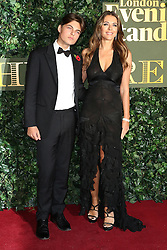 © Licensed to London News Pictures. 13/11/2016. London, UK, Damian Hurley; Elizabeth Hurley, Evening Standard Theatre Awards, Photo credit: Richard Goldschmidt/LNP