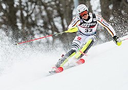 "Sebastian Holzmann (GER) competes during 1st Run of FIS Alpine Ski World Cup 2017/18 Men's Slalom race named ""Snow Queen Trophy 2018"", on January 4, 2018 in Course Crveni Spust at Sljeme hill, Zagreb, Croatia. Photo by Vid Ponikvar / Sportida"