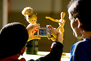 Belo Horizonte_MG, Brasil...Aula de educacao artistica no Instituto Efigenia Vidigal em Belo Horizonte...The art education class in the Efigenia Vidigal Institute in Belo Horizonte...Foto: LEO DRUMOND /  NITRO