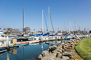 Yachts at Oceanside Harbor North End