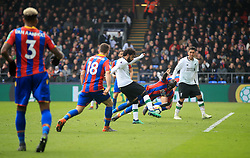 Liverpool's Mohamed Salah scores his side's second goal of the game during the Premier League match at Selhurst Park, London.