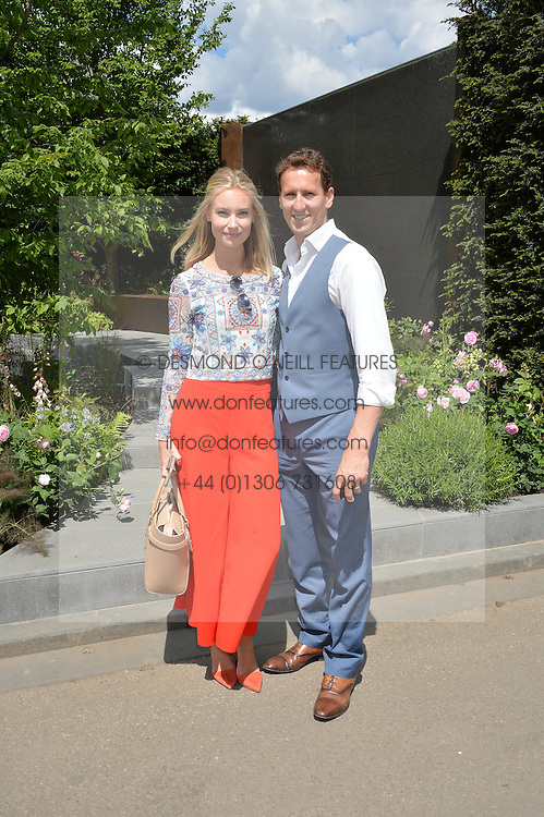 BRENDAN COLE and his wife ZOE at the 2016 RHS Chelsea Flower Show, Royal Hospital Chelsea, London on 23rd May 2016