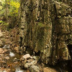 Hadlock Brook in Maine's Acadia National Park.  Fall.