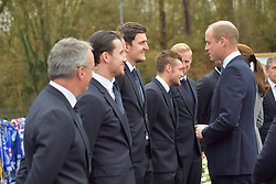 The Duke of Cambridge (right) speaks with Leicester City footballers during a visit to Leicester City Football ClubÕs King Power Stadium, to pay tribute to those who were killed in the helicopter crash last month.
