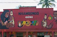 Colorful shop entrance in Chibuto, Limpopo floodplain, Maputo Province, Mozambique