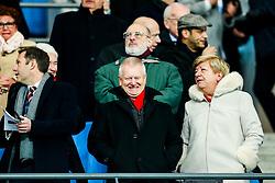 Bristol City majority shareholder Steve Lansdown looks on with his wife Maggie and CEO Mark Ashton - Rogan/JMP - 09/01/2018 - Etihad Stadium - Manchester, England - Manchester City v Bristol City - Carabao Cup Semi Final First Leg.
