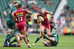 Charlie Walker of Harlequins is tackled in possession - Mandatory byline: Patrick Khachfe/JMP - 07966 386802 - 02/09/2017 - RUGBY UNION - Twickenham Stadium - London, England - London Irish v Harlequins - Aviva Premiership