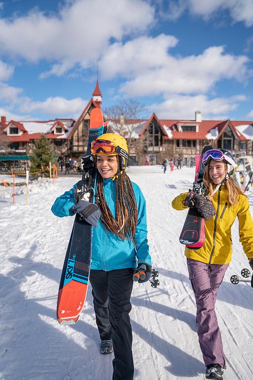 Skiing at Boyne Highlands Resort near Petoskey, Michigan.