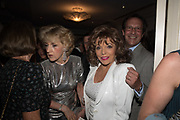 FIONA SHACKLETON; JOAN COLLINS; PERCY GIBSON, Robin Birley and Lady Annabel Goldsmith Summer Party. Hertford St. London. 5 July 2017