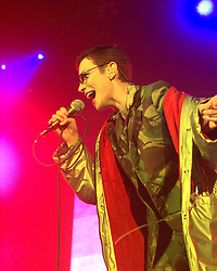 Annie Lennox & Dave Stewart of the Eurythmics, play a concert at Glasgow's SECC in November 1999.