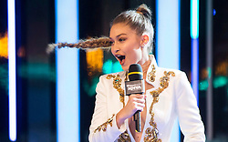 Gigi Hadid greets fans on stage during the Much Music Video Awards in Toronto, Canada, on Sunday, June 19, 2016. Photo by Chris Young/CP/ABACAPRESS.COM