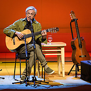 BETHESDA, MD - April 15th, 2019 - Brazilian guitarist Caetano Veloso performs at The Music Center at Strathmore in North Bethesda, MD. (Photo by Kyle Gustafson / For The Washington Post)