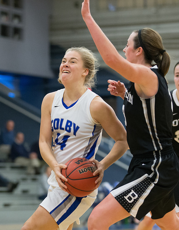 Haley Driscoll, of Colby College, in a NCAA Division III basketball game against Bowdoin College on December 6, 2014 in Waterville, ME. (Dustin Satloff/Colby College Athletics)