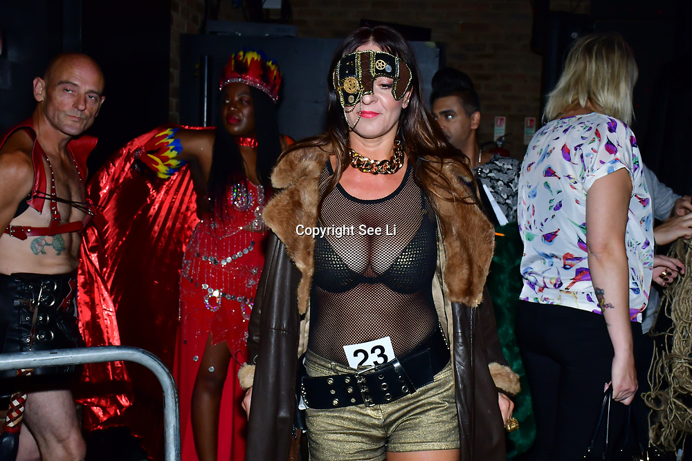 """Designer Karin Zenzinger - Dark Goth collection at The Third Annual Integrity Awards by Dragon Lady Productions and The Peace Project 21st """"The Alternative Fashion Integrity Awards 2019 & Film Networking Soirée"""" on 21 September 2019, Fire Club Vauxhall, London, UK."""