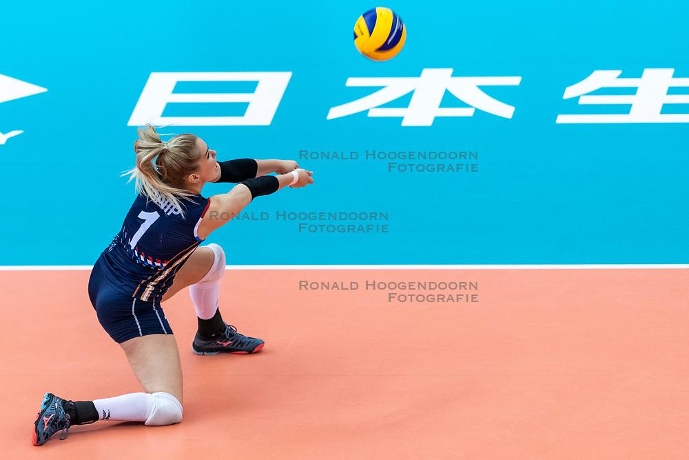 11-10-2018 JPN: World Championship Volleyball Women day 12, Nagoya<br /> Netherlands - Serbia 3-0 / Kirsten Knip #1 of Netherlands