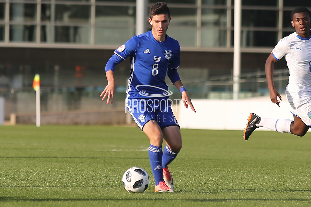 Omri Ram of Israel (8) during the UEFA European Under 17 Championship 2018 match between Israel and Italy at St George's Park National Football Centre, Burton-Upon-Trent, United Kingdom on 10 May 2018. Picture by Mick Haynes.