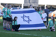 Israel flag bearers during the UEFA European Under 17 Championship 2018 match between England and Israel at Proact Stadium, Whittington Moor, United Kingdom on 4 May 2018. Picture by Mick Haynes.