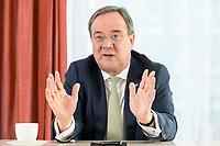 27 NOV 2020, BERLIN/GERMANY:<br /> Armin Laschet, CDU, Ministerpraesident Nordrhein-Westfalen, waehrend einem Interview, Landesvertretung Nordrhein-Westfalen<br /> IMAGE: 20201127-01-018